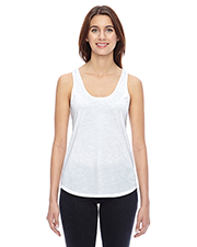 Custom Embroidered Alternative Apparel 04031C1 Ladies 3.66 oz. Shirttail Satin Jersey Tank at GotApparel