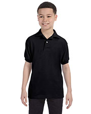 Hanes 054Y Boys 5.2 Oz. 50/50 Comfort Blend Eco Smart Jersey Knit Polo at GotApparel