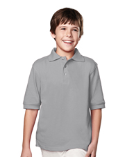 Tri-Mountain 090 Boys Element Pique Short Sleeve Golf Shirt at GotApparel