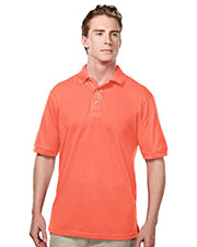 Tri-Mountain 095 Men Elet Easy Care Short Sleeve Pique Golf Shirt at GotApparel