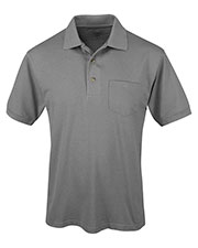 Tri-Mountain 096 Men Elet Ltd-Short Sleeve Pique Easy Care Golf Shirt With A Pocket at GotApparel