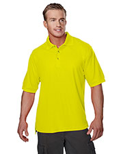 Tri-Mountain 100 Men's Safeguard Short-Sleeve Pique Golf Shirt at GotApparel