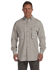 Hook & Tackle 1013L Men Gulf Stream Long Sleeve Fishing Shirt at GotApparel