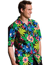 Edwards 1015 Unisex Hawaiian Tropical Print Short-Sleeve Camp Shirt at GotApparel