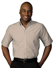 Edwards 1027 Men's Performance Oxford Short Sleeve Dress Shirt at GotApparel