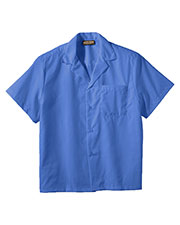 Edwards 1029 Unisex Solid Poplin Short-Sleeve Camp Shirt at GotApparel