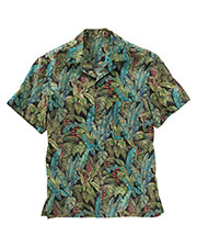 Edwards 1032 Men Unisex Tropical Leaf Camp Shirt at GotApparel