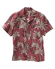 Edwards 1034 Unisex Left Chest Pocket Palm Tree Camp Collar Short-Sleeve Shirt at GotApparel