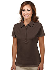 TRI-MOUNTAIN PERFORMANCE 103 Women Stamina Poly Ultracool Waffle Knit Golf Shirt With Self-Fabric Collar at GotApparel