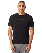Alternative Apparel 1054CG Men Heavy Wash Football T-Shirt at GotApparel