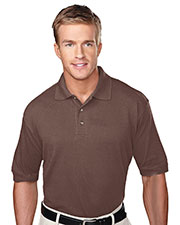 Tri-Mountain 105 Men Profile Short Sleeve Pique Golf Shirt With Clean-Finished Placket at GotApparel