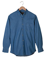 Edwards 1093 Men Long Sleeve Denim Shirt at GotApparel