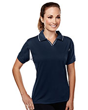 TM Performance 114 Women's Ultracool Waffle Knit Golf Shirt at GotApparel