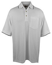 Tri-Mountain 117 Men Conquest Ultracool Mesh Pocketed Short Sleeve Golf Shirt at GotApparel