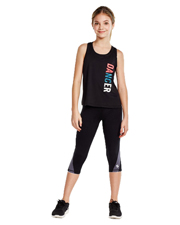 Soffe 1186G Girls Dri Clrblck Capri at GotApparel