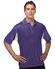 TRI-MOUNTAIN PERFORMANCE 118 Men Action Poly Ultracool Waffle Short Sleeve Knit Golf Shirt at GotApparel