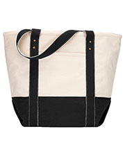 Gemline 1211 Women Seaside Zippered Cotton Tote at GotApparel