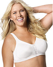 Just My Size 1217 Women Super Sleek Front Close Wirefree Bra at GotApparel