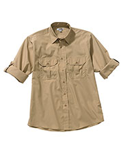 Edwards 1288 Men Poplin Roll Up Sleeve Shirt at GotApparel
