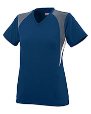 Augusta 1296 Girls Mystic Soccer V-Neck Short Sleeve Jersey at GotApparel