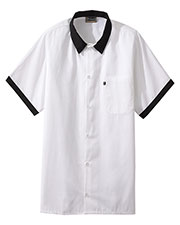 Edwards 1304 Unisex Short-Sleeve Cook Shirt with Contrasting Trim at GotApparel