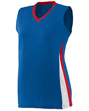 Augusta 1355 Women Sleeveless Tornado Volleyball V-Neck Jersey at GotApparel