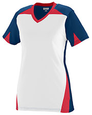 Augusta 1366 Girls Matrix Short Sleeve V-Neck Jersey at GotApparel