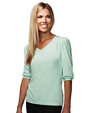Tri-Mountain 137 Women Torrance V-Neck Knit Shirt at GotApparel