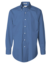 Van Heusen 13V0143hs Men Long Sleeve Easy Care Non-Iron Pinpoint Dress Shirt at GotApparel