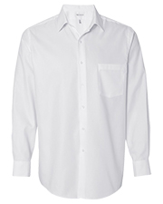 Van Heusen 13V0382 Men Long Sleeve Easy Care Pique Dress Shirt at GotApparel
