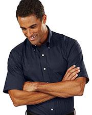 Van Heusen 13V0532 Men Short Sleeve Easy Care Twill Dress Shirt at GotApparel