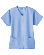 White Swan 14106 Fundamentals Snap Front Top at GotApparel