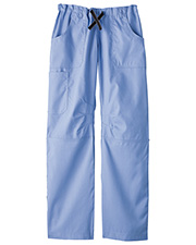White Swan Brands 14276  Fundatals   Six Pocket Pant.  Comfortable Elasticized Waistband with Grosgrain Ribbon Drawstring. Two Front s.  Roomy Cargo   Scissor .   Back Flap s.  Top Stitch Detail.  Belt Loops. 19 Leg Opening.  65% Polyester/ at GotApparel