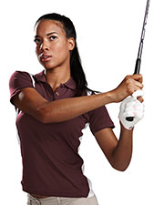 TRI-MOUNTAIN PERFORMANCE 143 Women Blitz UltraCool Knit Polo Shirt With Rib Collar at GotApparel