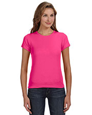 Anvil 1441 Women 1x1 Baby Rib Scoop T-Shirt at GotApparel