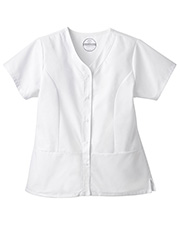 White Swan 14560 Fundamentals Snap Front Top at GotApparel