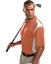 Tri-Mountain 145 Men Blitz Short-Sleeve Ultracool Golf Shirt With Rib Collar at GotApparel