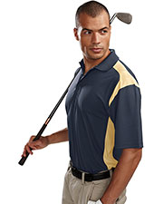 Tri-Mountain 145 Men Blitz Short Sleeve UltraCool Golf Shirt With Rib Collar at GotApparel