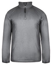 Badger 1483 Men Pro Heathered Fleece 1/4-Zip Sweatshirt at GotApparel