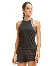 Soffe 1504V Women Junior High Neck Track Tank at GotApparel