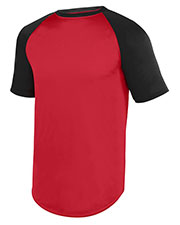 Augusta 1509  Youth Wicking Short Sleeve Baseball Jersey at GotApparel