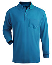 Edwards 1525 Unisex Soft Touch Blended Pique Long Sleeve Polo With Pocket at GotApparel