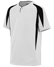 Augusta 1545 Men Flyball Baseball Short Sleeve Jersey at GotApparel