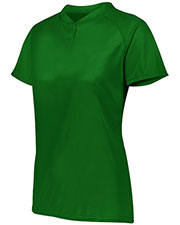 Augusta 1567AUG Women's Attain Two-Button Jersey at GotApparel