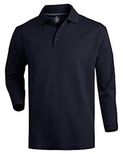 Edwards 1578 Men Dry-Mesh Long-Sleeve Polo Shirt at GotApparel