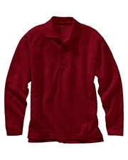 Edwards 1578 Men Unisex Dry-Mesh Moisture Wicking Long Sleeve Polo Shirt at GotApparel