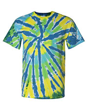 Dyenomite 200T2 Men DY TIE DYE RAINBOW CUT TEE at GotApparel