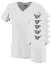 Augusta 1790 Women Moisture-Wicking V-Neck T-Shirt 6-Pack at GotApparel