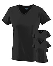 Augusta 1790 Women Moisture-Wicking V-Neck T-Shirt 3-Pack at GotApparel