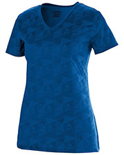 Augusta 1793 Girls Elevate Performance Wicking V-Neck Short Sleeve T-Shirt at GotApparel